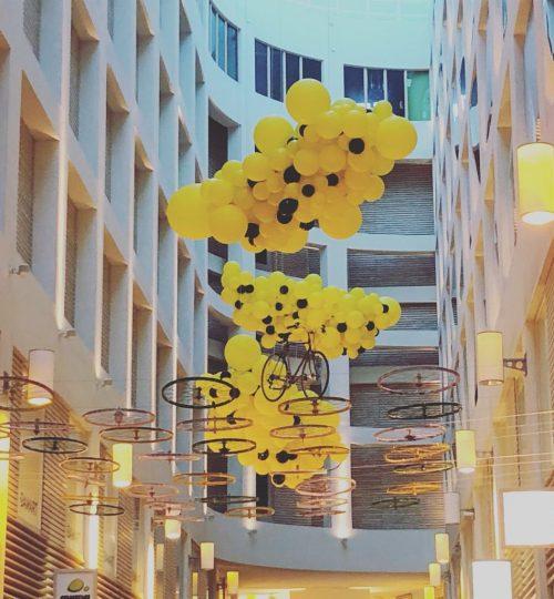 """ballon installatie """"Tour de France"""""""