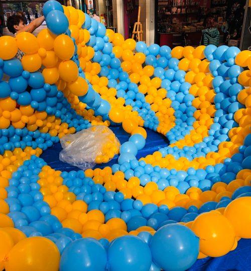 Ballonsculptuur suske en wiske