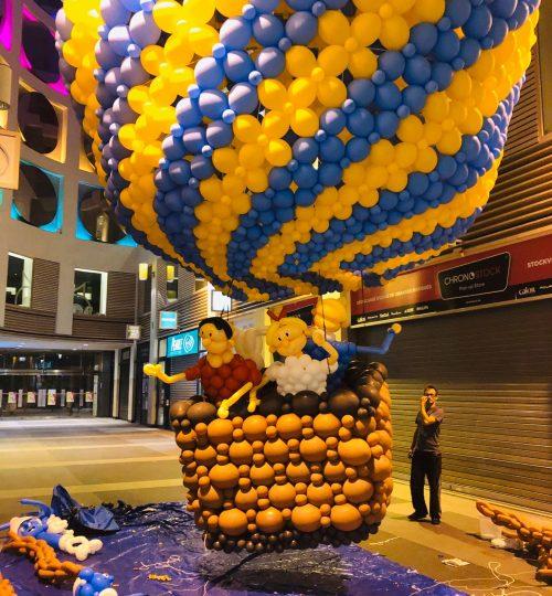 Ballonsculptuur smurfen